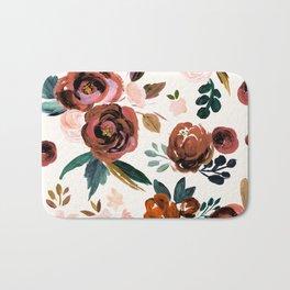 Valentina Vintage Rust Rose Bath Mat