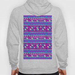Latin American Pattern Pink Purple Blue. Funky Art. Colourful Pattern Hoody