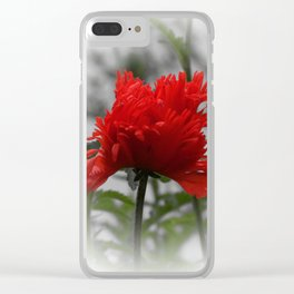 poppy -3- Clear iPhone Case