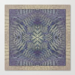 SYMMETRICAL PASTEL PURPLE BRACKEN FERN MANDALA Canvas Print