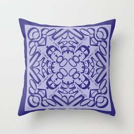 Courage of her Conviction Mandala - Violet Lavender Throw Pillow