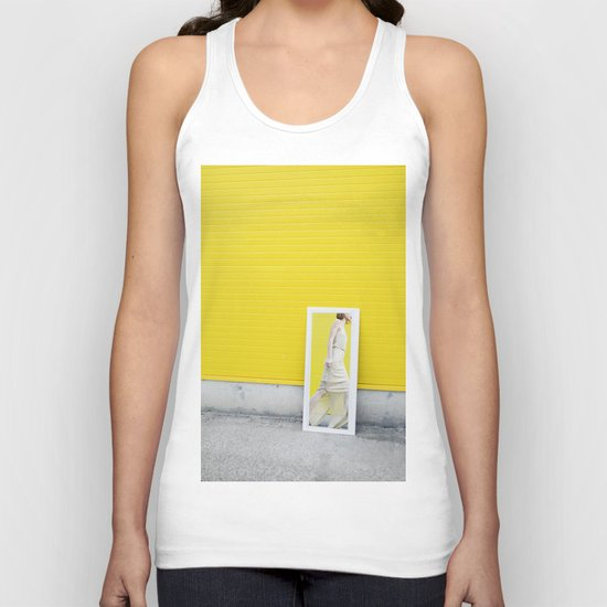 Yellow fashion Unisex Tank Top