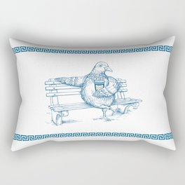 Cup O' Coffee NYC Style_pigeon Rectangular Pillow