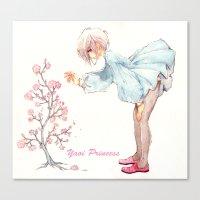 yaoi Canvas Prints featuring Yaoi Princess Sakura by SpaceMonolith