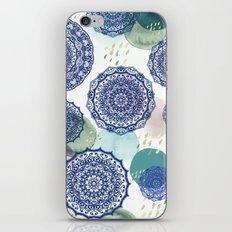 Fall Love Mandala in Blue iPhone & iPod Skin