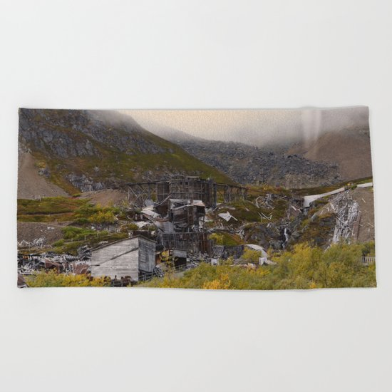 Independence Mine - Hatcher Pass, Alaska Beach Towel