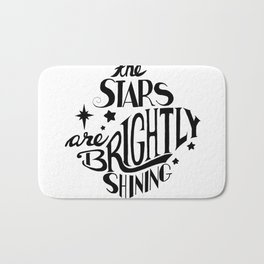The Stars are Brightly Shining Bath Mat