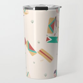 Scattered Beach Day With Friends Travel Mug