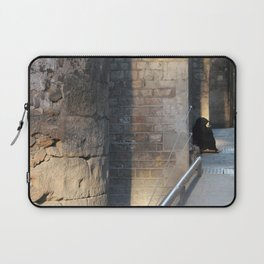 Barcelona - A Beggar at the Gothic quarter Laptop Sleeve