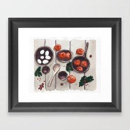 Christmas Holiday Table Framed Art Print