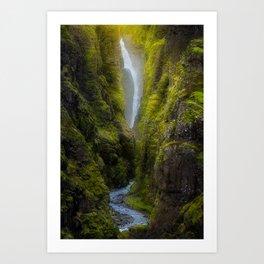 Glymur waterfall - Iceland  (RR131) Art Print