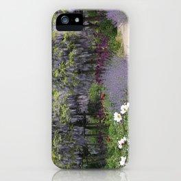 Blue Flowergarden With Wisteria iPhone Case