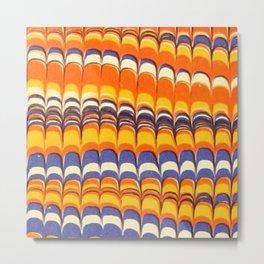 Scallops in Orange and Blue Metal Print