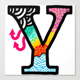 initial Y Canvas Print
