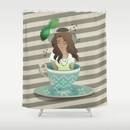 Tea Cup Girls - Peppermint Shower Curtain
