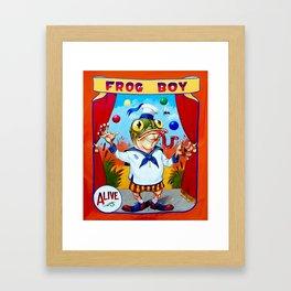 Frog Boy Framed Art Print