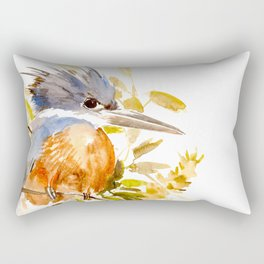 Belted Kingfisher Rectangular Pillow