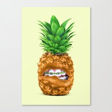 PINEAPPLE LIPS Canvas Print