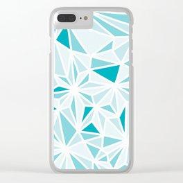 geo blue Clear iPhone Case