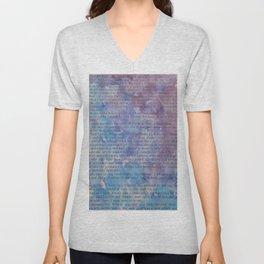 Blue Violet Text Unisex V-Neck