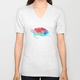 Watercolor Turtle Unisex V-Neck