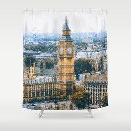 London Cityscape Shower Curtain