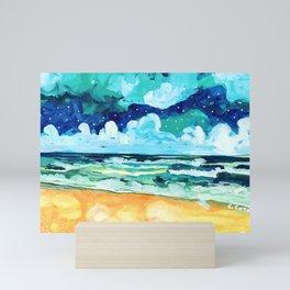Simple Seascape X Mini Art Print