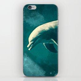Watercolor Wild Dolphin  Digital Art iPhone Skin