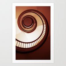 Brown spiral staircase Art Print