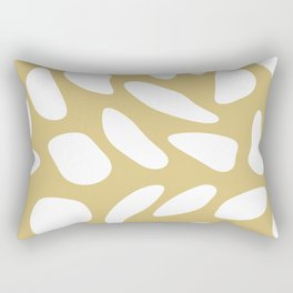 White pebbles on beige Rectangular Pillow