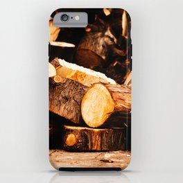 Chopped Wood iPhone Case
