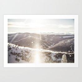 Vail Ski Resort's Iconic Back Bowls: Vail Colorado Art Print