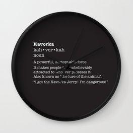The Kavorka Wall Clock