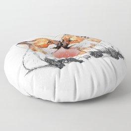 baby fox love Floor Pillow