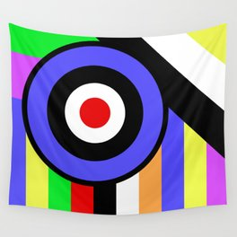 Bold Geometry - Abstract, Geometric, Retro Art Wall Tapestry
