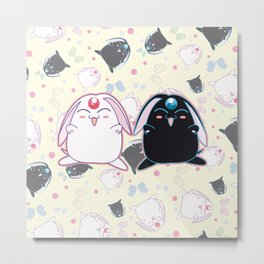 Black & White Mokona Metal Print