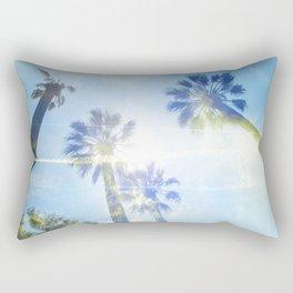 Faded Palms Rectangular Pillow