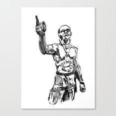 Techno Viking Love  Canvas Print