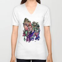 guardians of the galaxy V-neck T-shirts featuring Guardians of the Galaxy by Max Grecke
