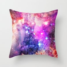 Doodles in Deep Space Throw Pillow