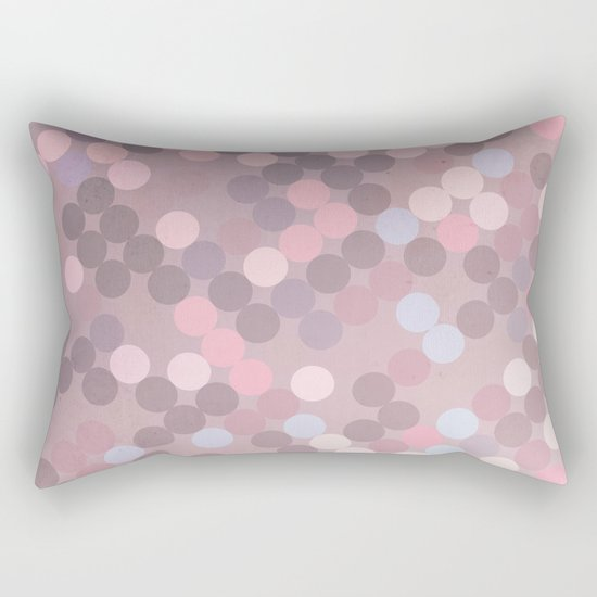 Polka Dots Geometry Rectangular Pillow