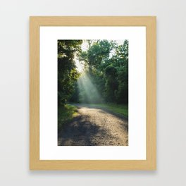Beauty around every corner  Framed Art Print