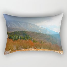 Landscape with snow Rectangular Pillow