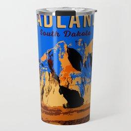 Visit Badlands Retro Postcard Travel Mug