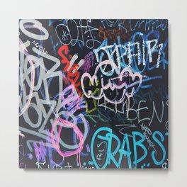 Graffiti Writing Metal Print