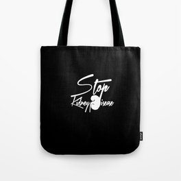 Stop Kidney Disease - WhiteText / Black Background Tote Bag