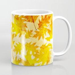 Autumn Oak Leaves Pattern Coffee Mug