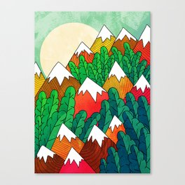 The mountains in the forest Canvas Print