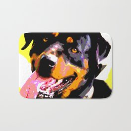 The ROTTIE from our POP YOUR POOCH line Bath Mat