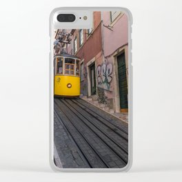 Trams of Lisbon Clear iPhone Case